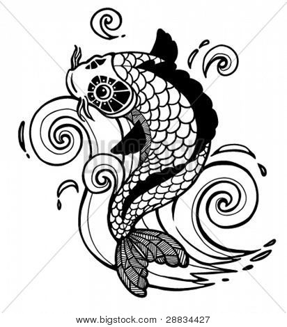 vector koi fish