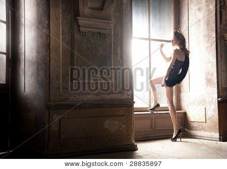 Sexy woman posing