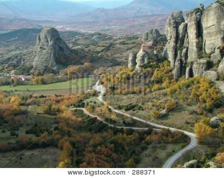 Meteora, Greece. Panoramic View.