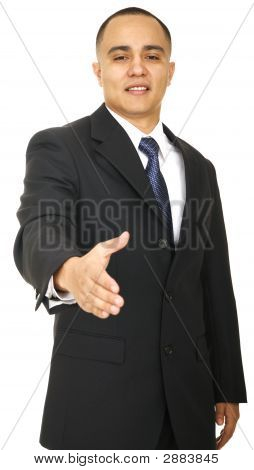 Business Man Offering Handshake