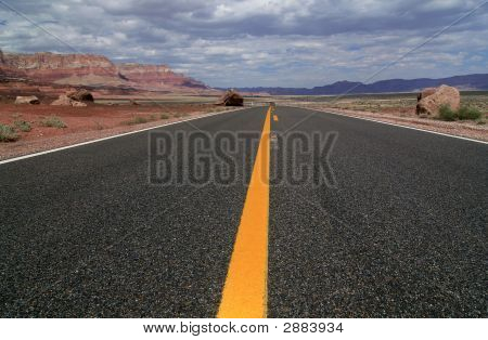 Long Yellow Line