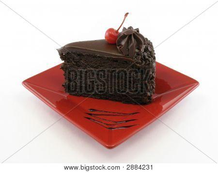 Chocolate Cake Whole Plate
