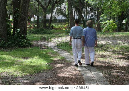 Lovers On Garden Path