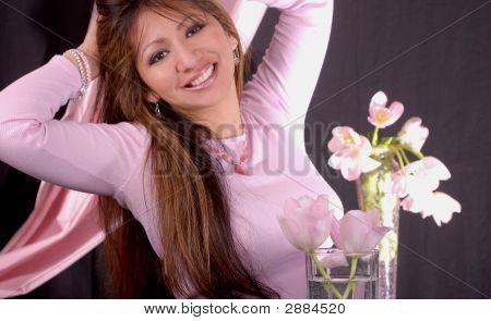 Happy Latina Female