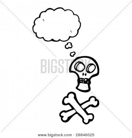 pirate skull and crossbones cartoon