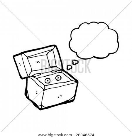 cartoon box with secret monster inside