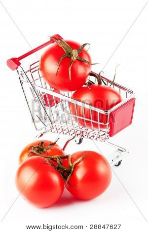 Perfect Tomatoes In Shopping Cart