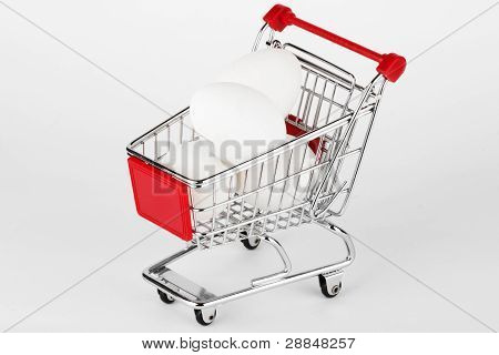 Shopping Cart With Eggs