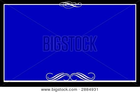 Formal Note Card Blue