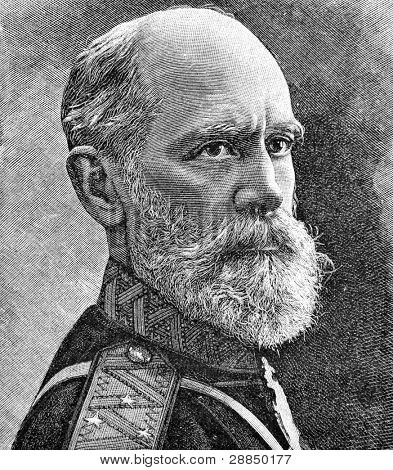 General of artillery Axel Gadolin. Engraving on steel by Shyubler. Published in magazine