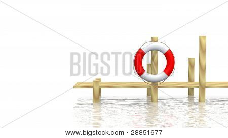 Safe-bouy And Pier
