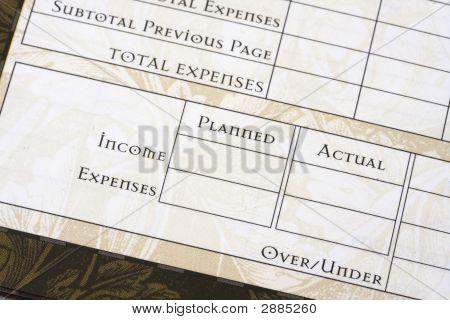 Budget-Blatt