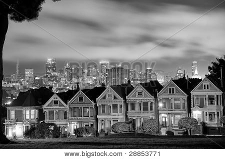 San Francisco skyline from Alamo Square