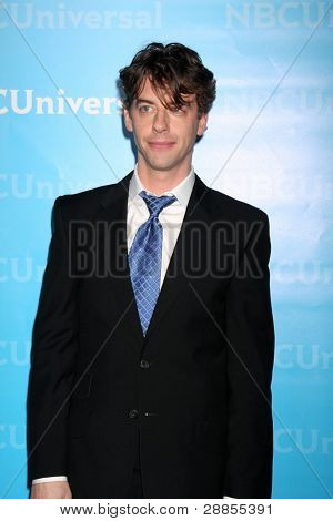 LOS ANGELES - JAN 6:  Christian Borle arrives at the NBC Universal All-Star Winter TCA Party at The Athenauem on January 6, 2012 in Pasadena, CA