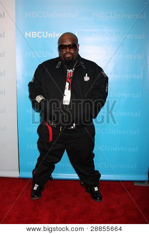 LOS ANGELES - JAN 6:  CeeLo Green arrives at the NBC Universal All-Star Winter TCA Party at The Athenauem on January 6, 2012 in Pasadena, CA