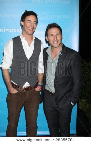 LOS ANGELES - JAN 6:  Tom Cavanagh, Mark Feuerstein arrives at the NBC Universal All-Star Winter TCA Party at The Athenauem on January 6, 2012 in Pasadena, CA