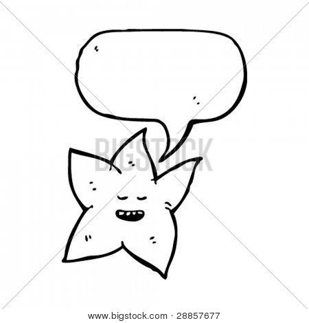 estrella kitsch con el bocadillo de diálogo