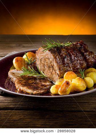assado de vitela com batatas