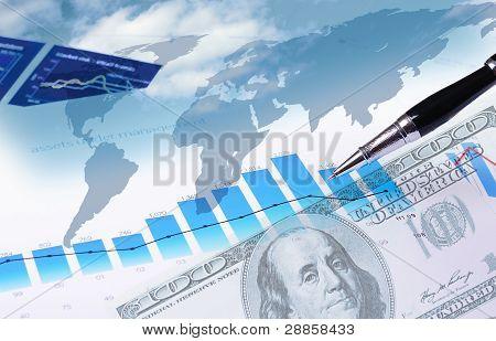 Finanz- und Diagramme und Grafiken
