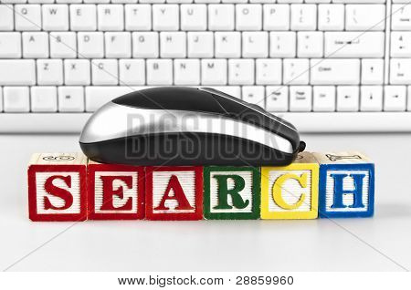 Search word with mouse and keyboard