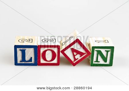 Loan word made by letter blocks