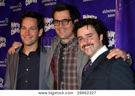 LOS ANGELES - JAN 13:  Paul Rudd, Ty Burrell, David Krumholtz. arrives at  the