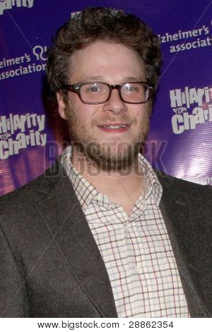 LOS ANGELES - JAN 13:  Seth Rogen; Lauren Miller. arrives at  the
