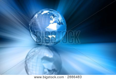 Abstract Globe