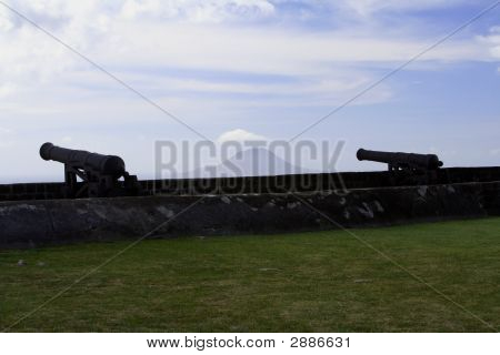 Silouetted Cannons
