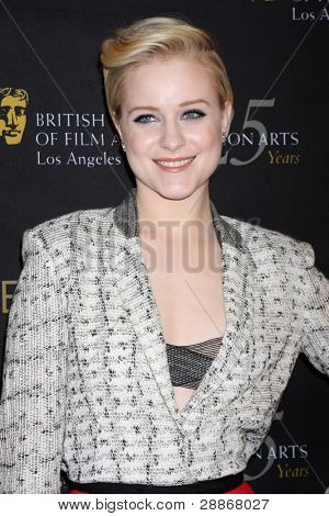 LOS ANGELES - JAN 14:  Evan Rachel Wood arrives at  the BAFTA Award Season Tea Party 2012 at Four Seaons Hotel on January 14, 2012 in Beverly Hills, CA