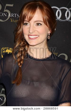 LOS ANGELES - 14 de JAN: Ahna O'Reilly llega en el BAFTA Award 2012 Tea Party de temporada en temporada cuatro