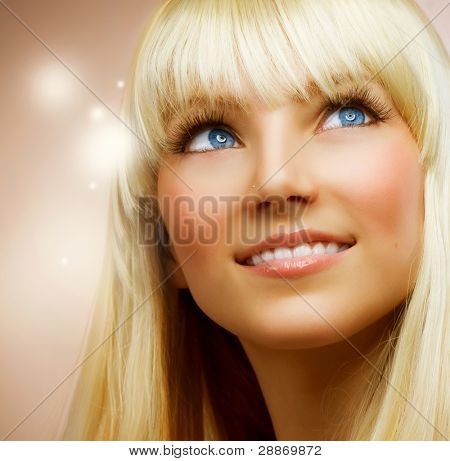 Teenage Girl with Healthy Blond Hair