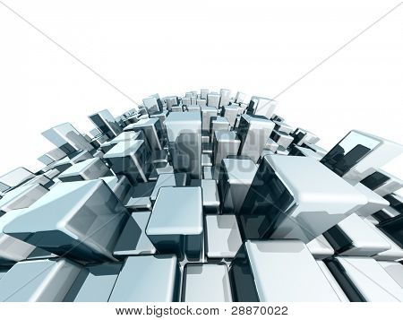 Abstract dynamic block metallic background