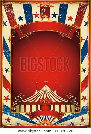schöne alte Zirkus Hintergrund mit Big Top. ein retro Circus Poster für Ihre Werbung.