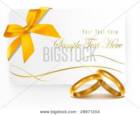 Hintergrund mit zwei gold Wedding Rings. Vektor-Illustration.
