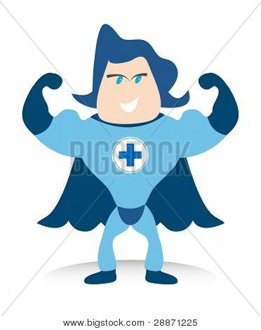 The Bluecross super hero is your life saver.