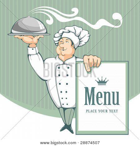 Vectores y fotos en stock de chef de dibujos animados que for Elementos de cocina para chef