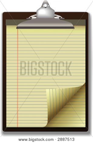 Clipboard Yellow Legal Paper Pad
