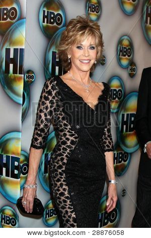 LOS ANGELES - JAN 15:  Jane Fonda arrives at  the HBO Golden Globe Party 2012 at Beverly Hilton Hotel on January 15, 2012 in Beverly Hills, CA