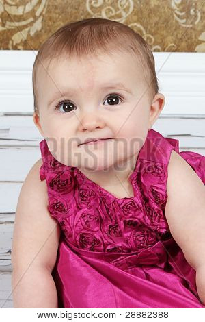 cute little Baby Girl in studio