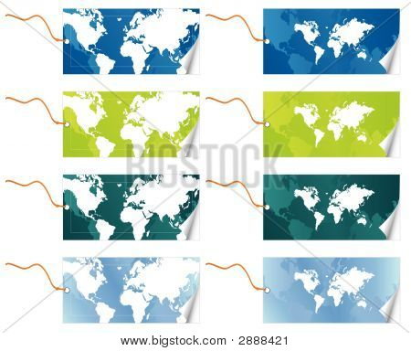 World Map Tags