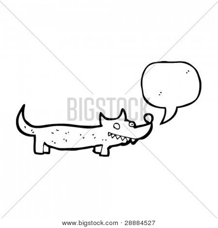 cheeky little dog with speech bubble