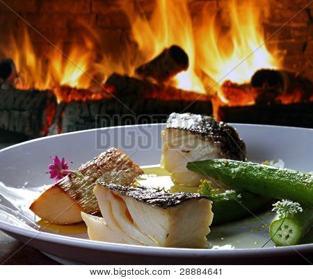Cod with olive oil