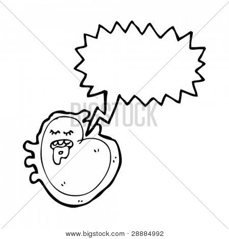 Germ cartoon with speech bubble