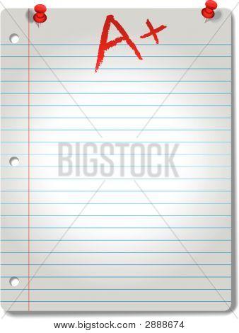 Spotlit Wide-Ruled Notebook Paper Tacks & Grade