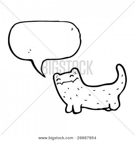 smug cat with speech bubble