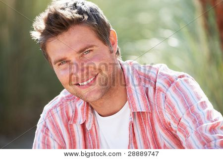 Portrait man outdoors