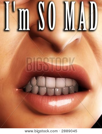 Angry Mouth Word