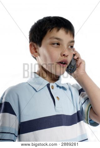 Young Boy Talking On Phone