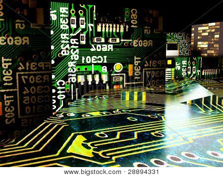 Japanese electronic factory